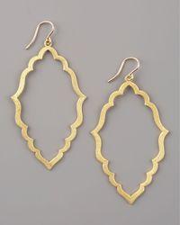 Dogeared | Metallic Always Beautiful Moroccan Hoop Earrings, Gold | Lyst