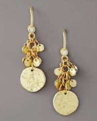 Dominique Cohen - Metallic Griffin Coin Fringe Earring - Lyst