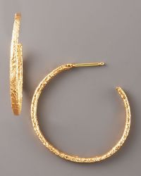 Dominique Cohen - Metallic Textured Rose Gold Earrings - Lyst