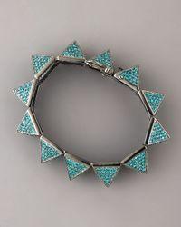 Eddie Borgo - Blue Pave Pyramid Bracelet, Turquoise - Lyst