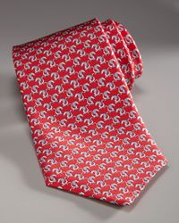 Ferragamo | Dragon Tie, Red for Men | Lyst