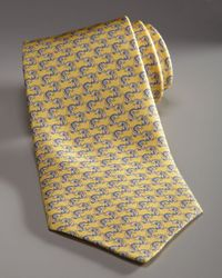 Ferragamo | Dragon Tie, Yellow for Men | Lyst