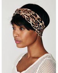 Free People - Natural Leopard Turban - Lyst