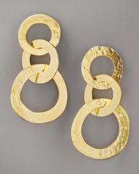 Herve Van Der Straeten | Metallic Three-circle Earrings | Lyst