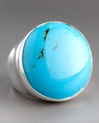 Ippolita | Blue Scultura Turquoise Round Ring | Lyst