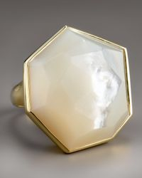 Ippolita - Metallic Large Faceted Mother-of-pearl Ring - Lyst
