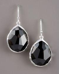 Ippolita - Black Small Teardrop Earrings - Lyst