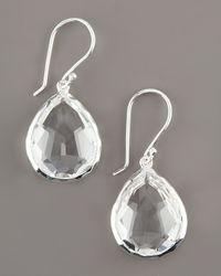 Ippolita - Metallic Teardrop Quartz Earrings - Lyst