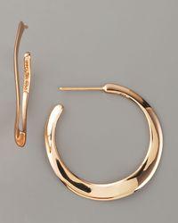 Ippolita | Metallic Wavy Rose Gold Hoop Earrings | Lyst