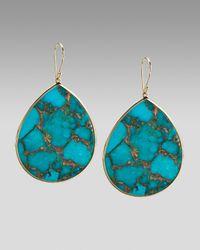 Ippolita - Blue Extra-large Teardrop Earrings, Bronze Turquoise - Lyst