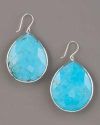 Ippolita - Blue Turquoise Teardrop Earrings, Extra Large - Lyst