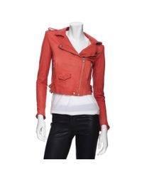 IRO Preorder Moto Colored Leather Jacket