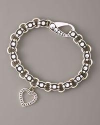 John Hardy | Metallic Heart-charm Dot Bracelet | Lyst