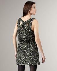 Joie - Green Ossie Silk Floral-print Dress - Lyst