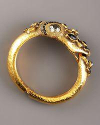 Jose & Maria Barrera - Black Multi-stone Snake Bracelet - Lyst