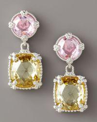 Judith Ripka | Metallic Double Ambrosia Earrings | Lyst