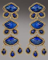 Kendra Scott - Blue Zoe Drop Earrings, Lapis - Lyst