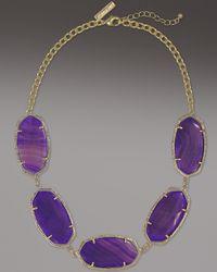 Kendra Scott Metallic Valencia Necklace, Purple Agate