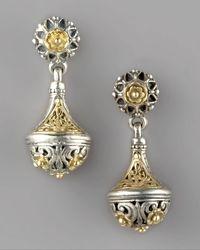 Konstantino - Metallic Silver & Gold Drop Earrings - Lyst