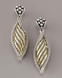 Lagos - Metallic Interlude Twist Earrings - Lyst