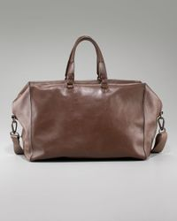 Lanvin | Brown Leather Weekend Bag for Men | Lyst