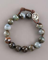 Love Heals Faceted Black Agate Bracelet