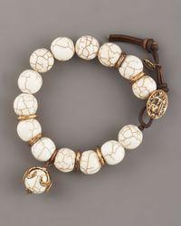 Love Heals | White Magnesite Beaded Bracelet | Lyst