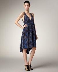 Marc By Marc Jacobs - Blue Printed Silk Dress - Lyst