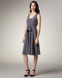 Marc By Marc Jacobs - Gray Belted Silk Dress - Lyst