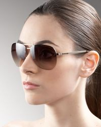 Marc By Marc Jacobs   Brown Rimless Aviator Sunglasses   Lyst