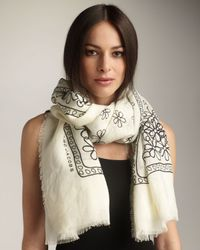 Marc Jacobs | White Daisy-print Scarf | Lyst