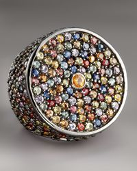 M.c.l  Matthew Campbell Laurenza | Multicolor Pave Sapphire Ring | Lyst