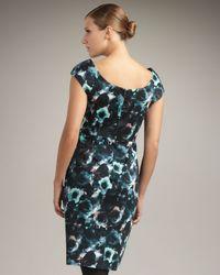 MILLY | Blue Katrina Printed Sheath Dress | Lyst