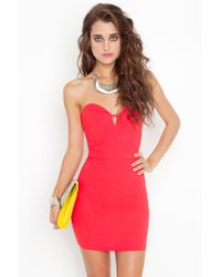 Nasty Gal | Red Serena Sweetheart Dress | Lyst