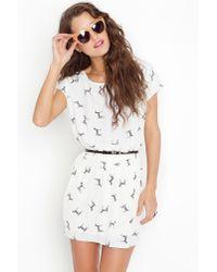 Nasty Gal | White Zebra Bow Dress | Lyst