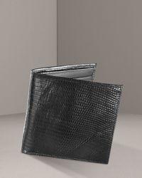 Neiman Marcus | Black Lizard Continental Wallet for Men | Lyst