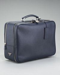 Prada - Saffiano Travel Bag, Blue for Men - Lyst