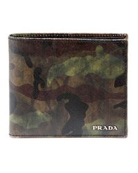 Prada | Green Camo Wallet for Men | Lyst