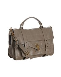 Proenza Schouler | Gray Smoke Leather Ps1 Medium Convertible Satchel | Lyst