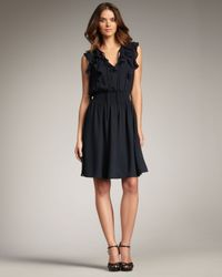 Rebecca Taylor | Blue Ruffle Dress | Lyst