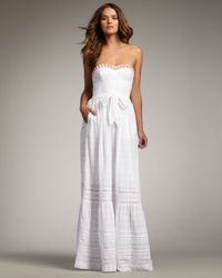Rebecca Taylor | White Cotton Gown | Lyst