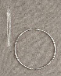Roberto Coin | Metallic Diamond Hoop Earrings, 2 | Lyst