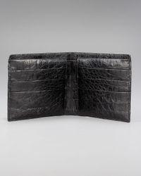Santiago Gonzalez - Black Crocodile Bi-fold Wallet for Men - Lyst