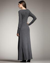 Splendid | Gray Thermal Maxi Dress | Lyst