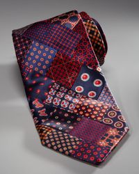 Stefano Ricci | Multicolor Patchwork Tie, Red for Men | Lyst