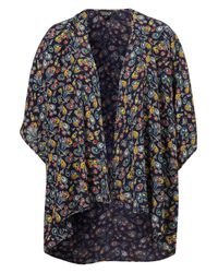 TOPSHOP | Blue Ditsy Floral Cropped Shirt | Lyst