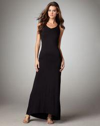 Vince | Black Knit Racerback Maxi Dress | Lyst