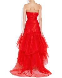 Vivienne Westwood Gold Label Paper Bag Tiered Silktaffeta and Tulle Gown