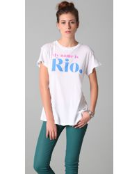 Wildfox | White My Name Is Rio Tee | Lyst