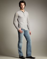 7 For All Mankind | Blue Nate Sangley Point Slim Boot-cut Jeans for Men | Lyst